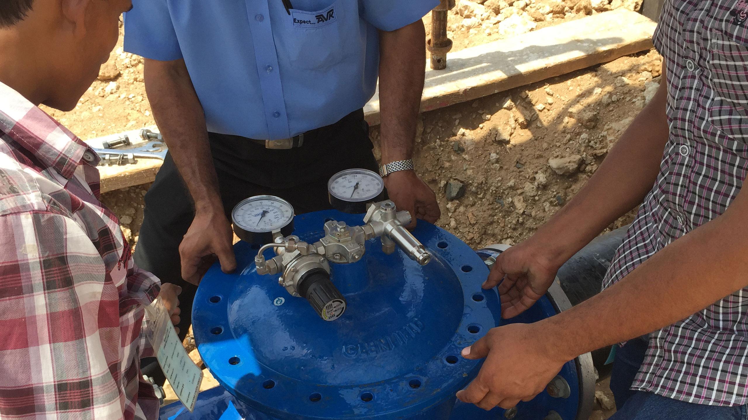Installation af trykregulerende ventil