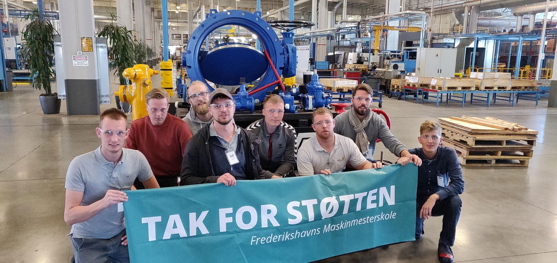 Maskinmesterstuderende fra Frederikshavn besøger AVK-fabrik i USA