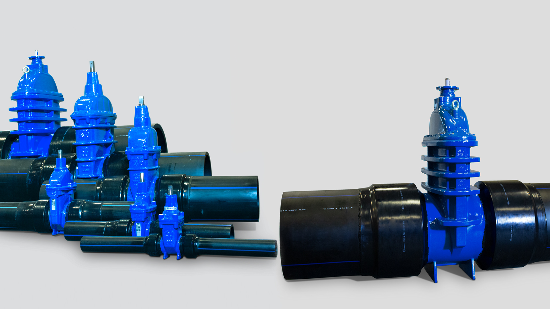 AVK skydeventiler med PE-ender op til 630 mm udvendig rørdiameter