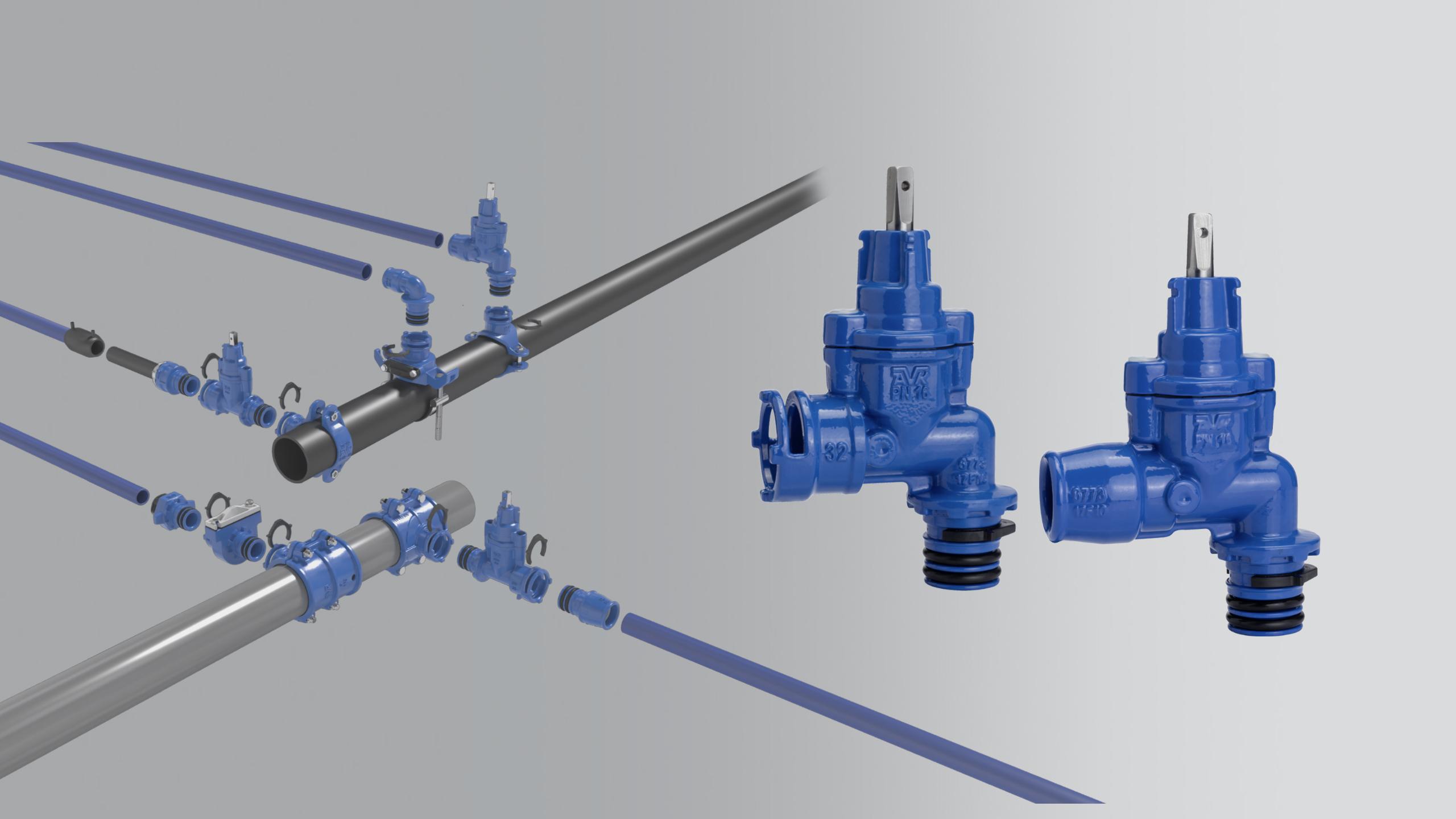 Ny vinkel-stikledningsventil i det gevindløse Supa Lock™- system