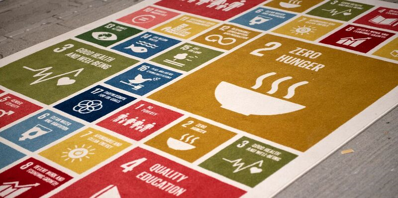 Udsnit over de mange un sustainable development goals
