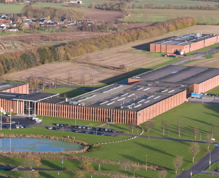 Luftfoto af AVK i Skovby