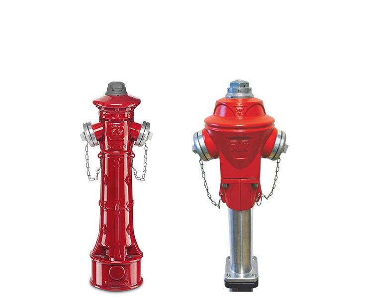 Topbetjente brandhaner, fås med tilbagestrømssikring og ekstra kugleafspærring
