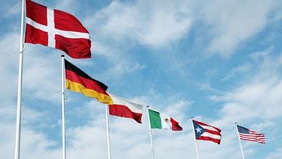 AVK hejser flaget, når der er besøg fra andre lande