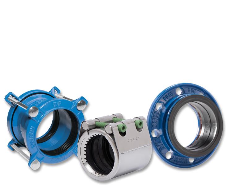 Koblinger og adaptere til spildevandsbehandling, fx Repico- og Supa-koblinger