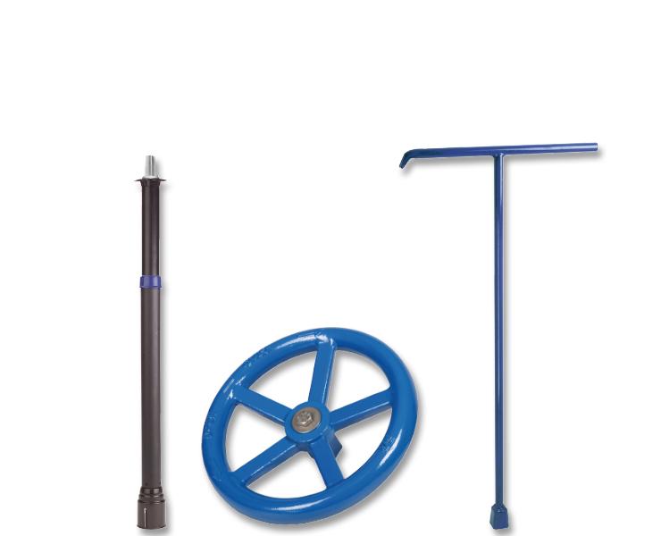 Garniturer, håndhjul, T-nøgler og spindelovergange til AVK-ventiler