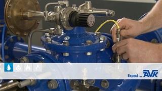 Hvordan installeres en PRV-controller på en AVK trykreducerende ventil