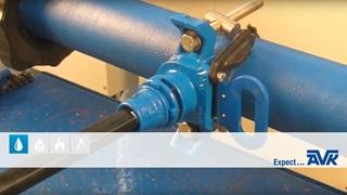Anboring under tryk med AVK Supa Lock™- anboringsbøjle